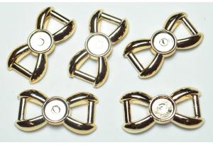 Протяжка для лент с серединкой 8 мм, 30x15 мм, пластик, золото