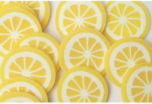 Серединка из полимерной глины, Лимон, 20 мм