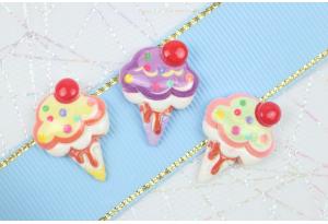 Серединка объемная, Мороженое-микс, 24х18 мм, цветной микс, 3 цвета