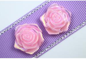 Серединка, роза с перламутром, 19 мм, розовая
