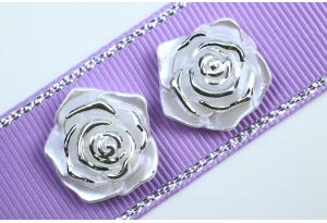Серединка, роза с перламутром, 19 мм, белая