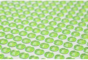 Стразы самоклеющиеся на планшетке, 6 мм, 504 шт., салатовые