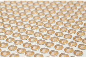 Стразы самоклеющиеся на планшетке, 6 мм, 504 шт., персиковые