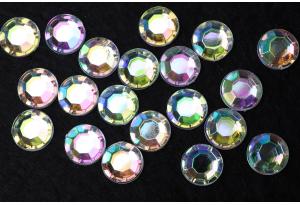 Стразы акриловые Crystal AB (с радужным напылением), SS 40, 8мм