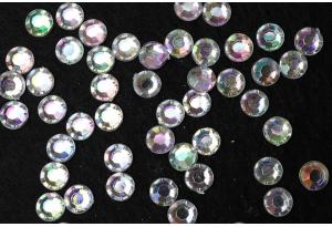 Стразы акриловые Crystal AB (с радужным напылением), SS 20, 5мм