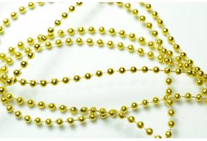 Тесьма акриловая Жемчуг 2,5 мм, золото