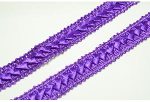 Тесьма Самоса, 2 см, фиолетовая
