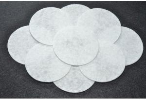 Кружочки из фетра 2.5 см, белые