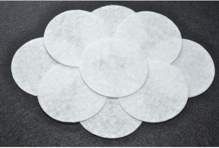 Кружочки из фетра 4 см, белые