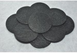 Кружочки из фетра 4 см, черные