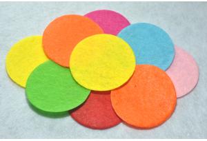 Кружочки из фетра 4 см, цветной микс