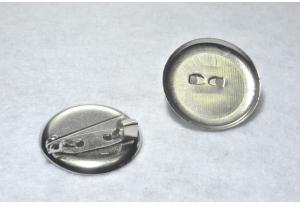 Основа для броши круглая, 2.5 см, металл